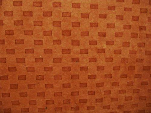 Ruční papír Lokta A4 - cihličky voděodolné