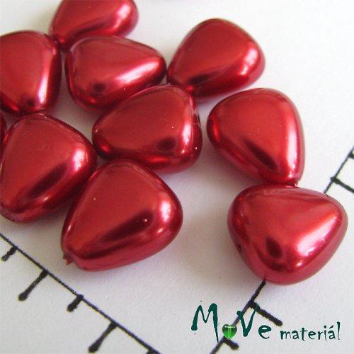 České voskové perle červené trojuhelníčky 12 ks