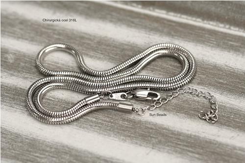 Hadí řetízek, chirurgická ocel 316L