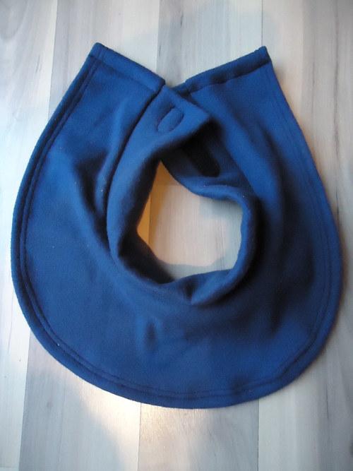 Dětský nákrčník - tm.modrý, černý, bílý