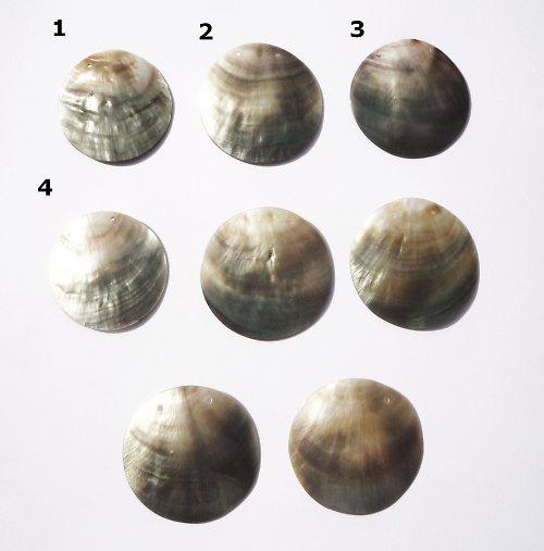 perleťové kolečko s 2dírkami 35mm