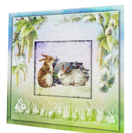 bavlněná látka - panel (čtverec) - velikonoční