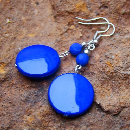 náušnice modré