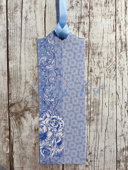 """Visačka \""""Blue flowers\"""""""