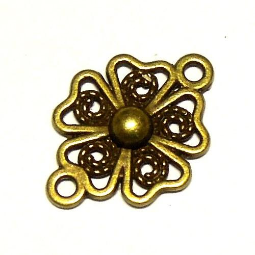 Konektor květinový staromosaz - 2 ks