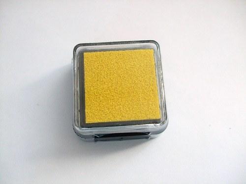 Razítkovací polštářek - žlutá