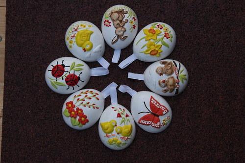Velikonoční vajíčka-ručně malovaná