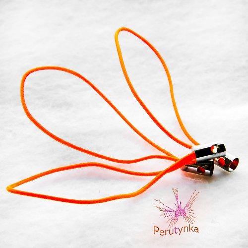 Poutka na mobil - svítivě oranžová, 3 ks