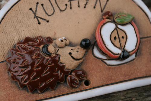 Cedulka Kuchyň Mlsný jěžeček s jablíčkem