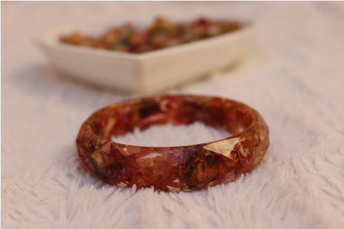 Růžový náramek - vnitřní průměr 6,5 cm