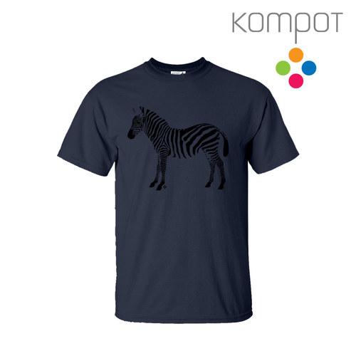 Pánské tričko ZEBRA :: ocelová (S-2XL)