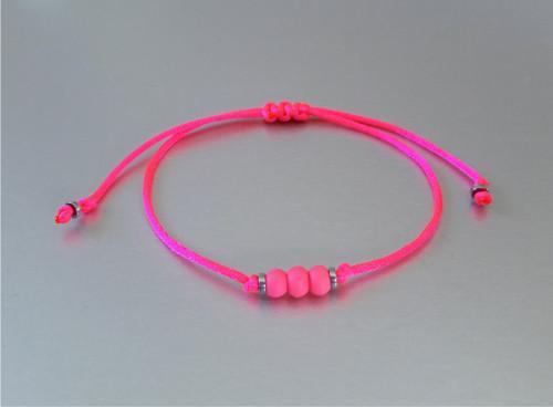 Náramek / Shamballa / Neon růžový /