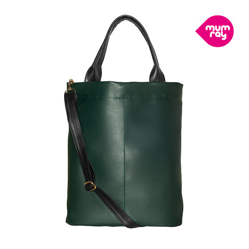Plain bag dark green