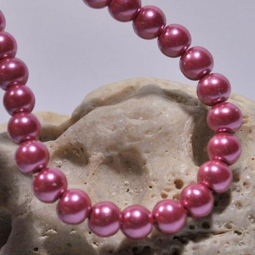 44. Voskové perle 6 mm/20ks/ dark pink