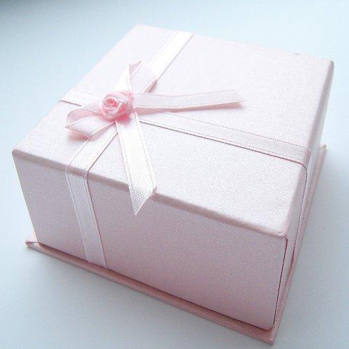 Růžová dárková krabička 85 x 85 mm