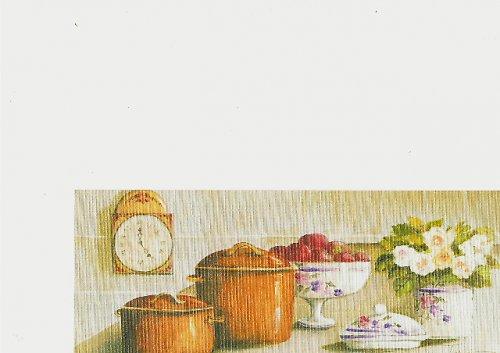 Reprodukce - tisk - Motiv kuchyně 10x25cm - 0615A