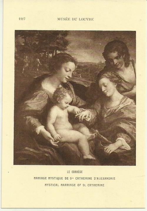 Umělecká pohlednice Le Correge