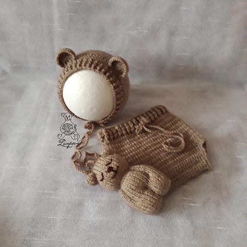 Medvídková newborn souprava