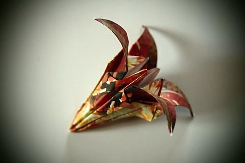 Origami kosatec