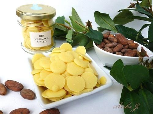 kakaové máslo pecičky