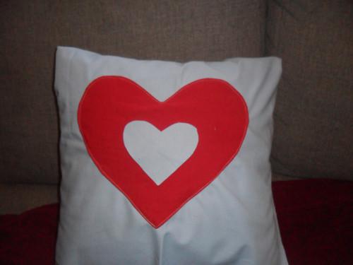 Povlak na polštářek - Srdce