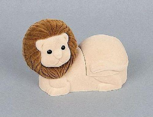 Sametová krabička na šperky - hnědý lev
