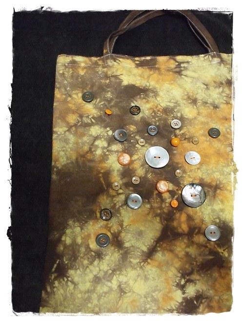 Nákupní taška s knoflíky