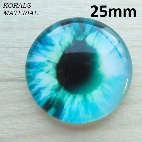 2937/D Kabošon Oko tyrkys 25 mm