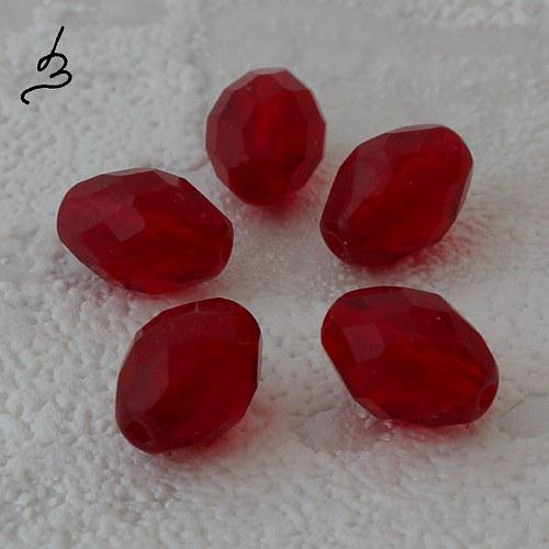 Broušené červené, 10 ks