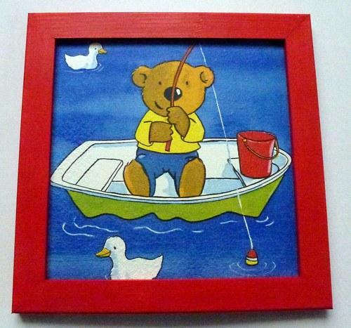 Medvídek rybář