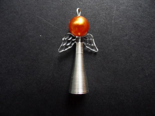 Vánoční andílek - oranžový