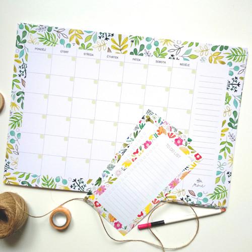 Nedatovaný kalendář/plánovač