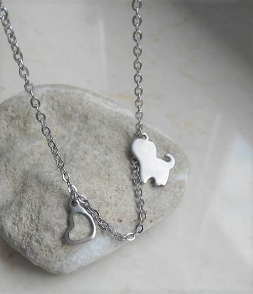 Dětský náhrdelník s kočičkou chirurgická ocel
