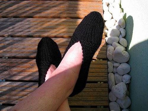 Pánske pletené papučky Inuitky - čierna