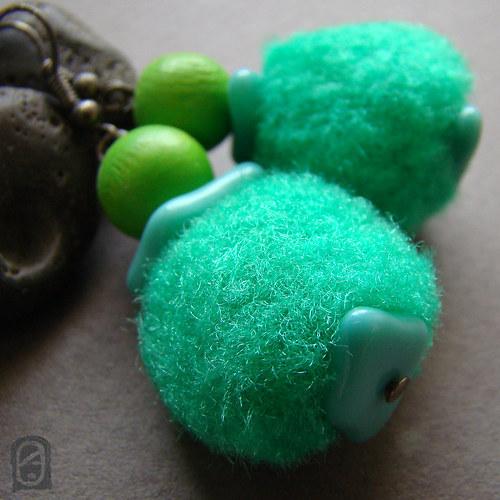 Zelené pompónky
