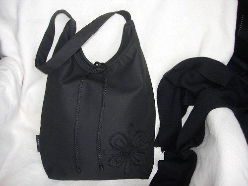 Taška (vak) v černé, s aplikací
