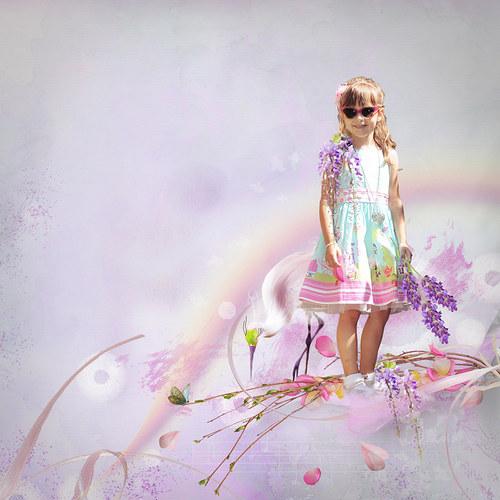 letní scrap z vaší fotky (mix kitů-Lily Designs)