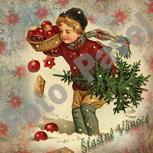 Vintage motiv - vánoce 30-2a