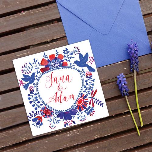 Folk • svatební oznámení