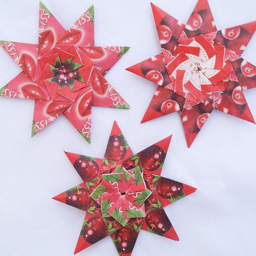 Čajové hvězdy - sada červená 2.