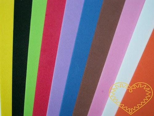 Pěnová guma / moosgummi - barevný mix 10 ks