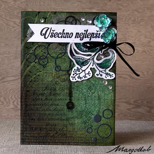 Narozeninové přání zelené
