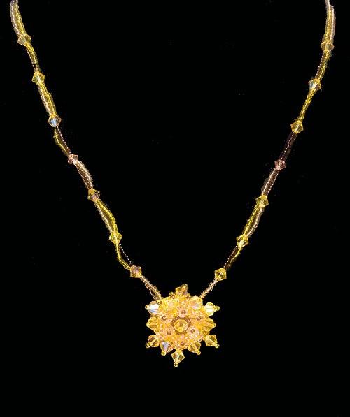 Náhrdelník - zlaté Sluníčko