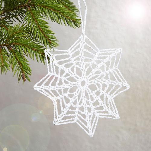 Vánoční hvězdička 8 - bílá