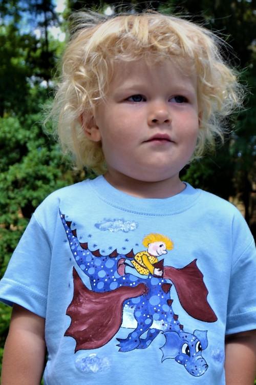 Dračí tričko ochrany pro děti - modrý drak