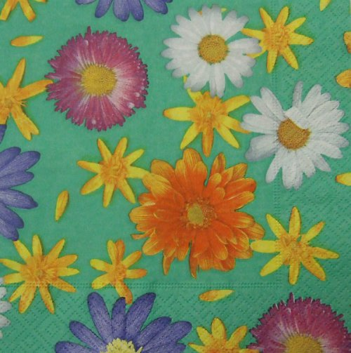 Ubrousek s květy