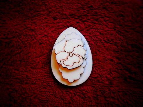 3D zápich na špejli vejce+maceška-3ks