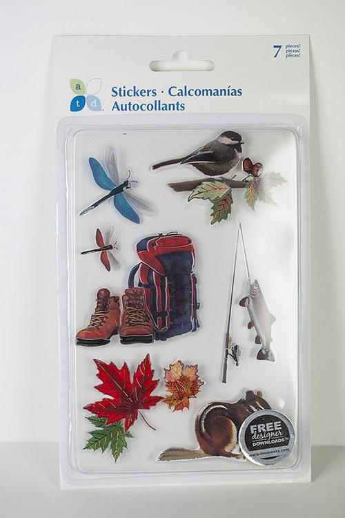 3D samolepky podzim
