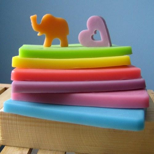 Mýdlové pláty s kozím mlékem_malé 2 ks