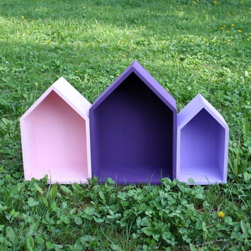 Sada domků - barva na přání